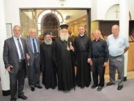 The Metropoliti of Kythera, father Petros and Mayor Koukoulis