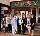 Members of the AHEPA group that visited Bingara outside the Roxy Cinema entry