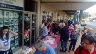 The food just kept on coming for the 400+ people who assembled outside the Canberra Cafe