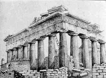 Parthenon before Elgin