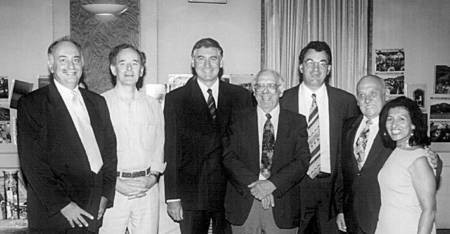 The 2000 Committee of the Karavitiko Symposium, with guest of honour.
