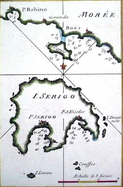1779 Map of Kythera