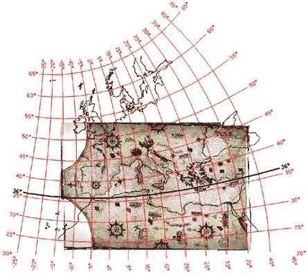 Map 8. Assigning map projections to portolan maps.
