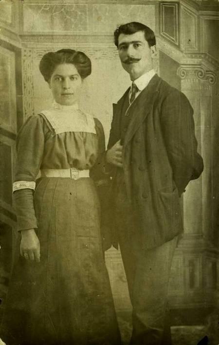 Aretee and Dimitrios Sophios; parents of the photographer Manolis Sophios