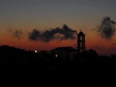 Agia Elessa Monastery at dusk
