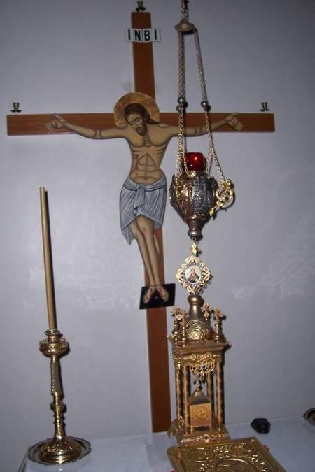 Crucifix. Rear Wall. Altar. Chapel. First Floor of - 100_1250
