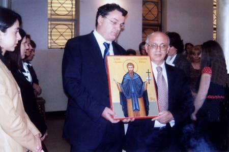 Parading the icon of Ayios Theothoros, 2007... - Ayios Theothoros icon parading 2007