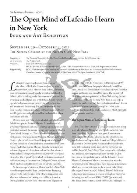 The Open Mind of Lafcadio Hearn in New York - The_open_mind_NYC_press_final_Page_1