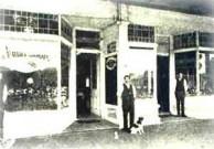 Ballina, 1916. Harry Krithari outside his store.