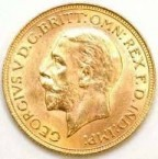 Small Head Portrait on Obverse of Late George V Sovereigns.