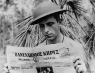 Xenophon Castrisos, aerial photographer with the Royal Australian Air Force during World War II.