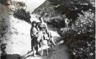 a mountain ride with grhea on a donkey