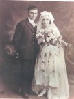 Uncle Ted Gavrilys and wife Mary Koukoulis wedding photo