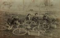 Bikeriders relaxing