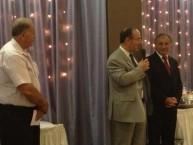 Mayor Theothori Koukoulis speaking to attendees at the Saint Haralambos dinner dance