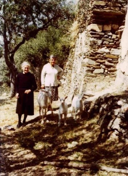 Kirrani Souris, a friend and three small goats.
