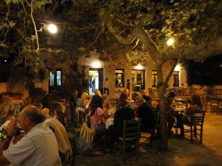 Hot August Night at Platanos Milopotamos