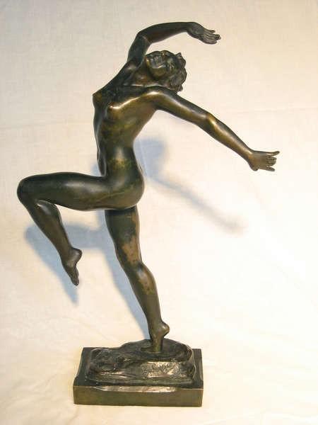 Danseuse (Ballerina) 1915, sculpture by Emmanuel Cavacos