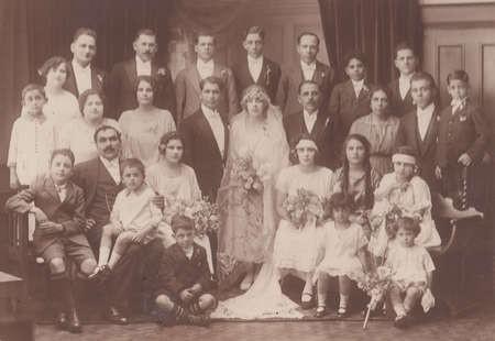 Marriage of Bretos Margetis to Theodora Lianos, 1925