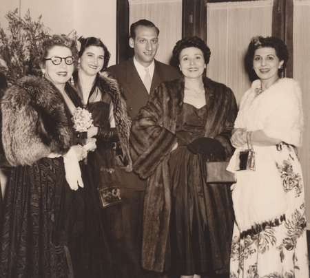 Theodora Margetis with by the world famous Greek Soprano, Elena Nicholaides, at the concert after party