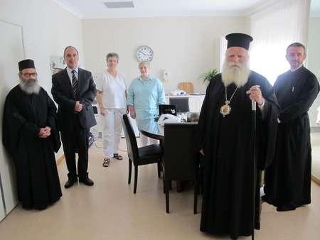 The Metropoliti of Kythera, father Petros and Mayor Koukoulis