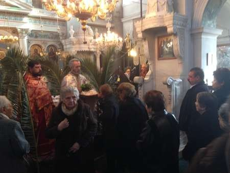Epithany celebrated on Kythera. Paramony ceremony at Potamos