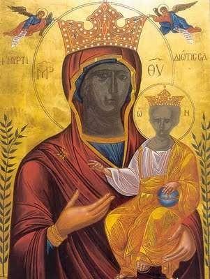 The miraculous icon of Panagia Myrtidiotissa - Panagia Myrtidiotissa Sept 24