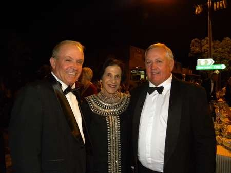 Senator John Williams, Her Excellency, Professor Marie Bashir AC CVO, Governor of New South Wales, and Mayor of Bingara, John Coulton