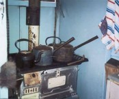 Cassimatis Cottage - Muttaburra, Queensland - Kitchen with wood stove.