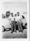 Manuel Coroneos, George Miller, and Dimitri Miller, picnic, Chinchilla.