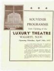 Luxury Theatre, Walgett. Souvenir Programme.
