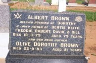 Albert Brown. Headstone. Gilgandra Cemetery.