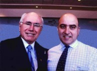 Prime Minister of Australia, John Howard with Spyro Coolentianos.