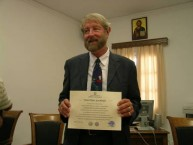 Professor Tim Gregory presented with Kythera's highest award.