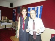 Dr. Tikey Zes receives Honorary Kytherian award