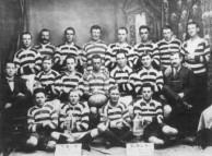 Nicholas Laurantus as patron of Grenfell Football Club in 1919.