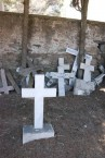UNIDENTIFIED CROSS (FOREGROUND)-----CEMETERY PANAGIA DESPINA