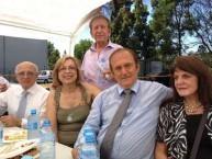 Victor Kepreotis, Phyllis Vlandis, Paul Vlandis (standing), Peter Magiros & Helen  Magiros