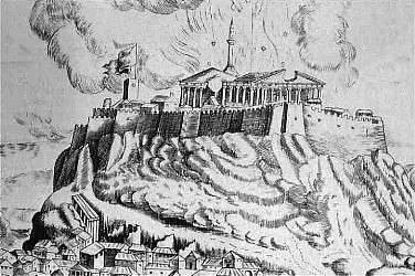 Parthenon Burning 1687
