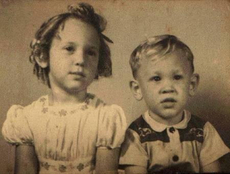 Peter and Barbera Sophios, as children in Maroubra