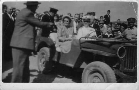 King Paul,Queen Frederika and Mr.Marselos M.P.1948