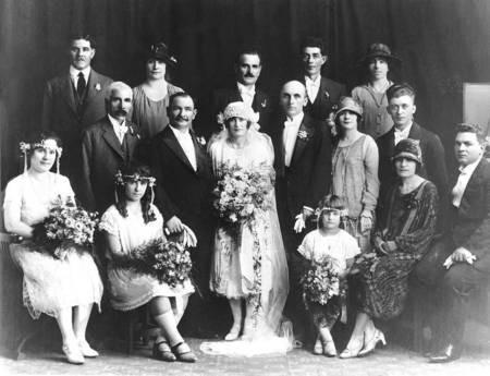 Wedding of Stathi Makris and Angeliki Kouvara, Brisbane, 1927