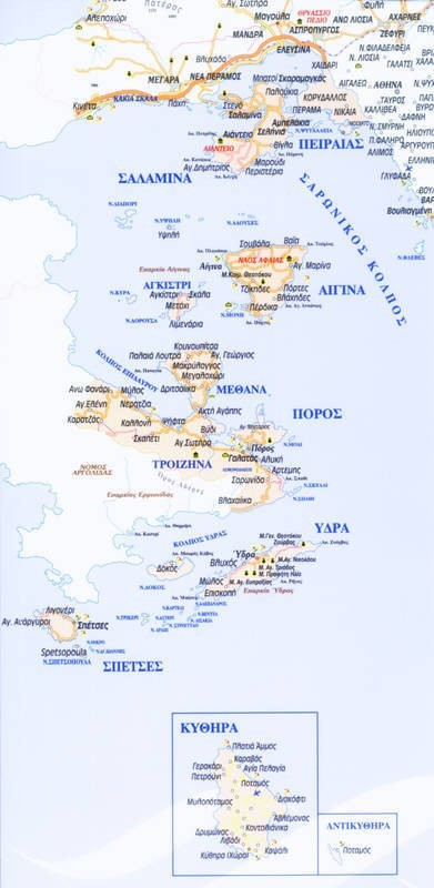 Government of Pireaus. Map.