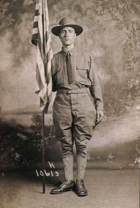 Harry Sofios in World War I uniform