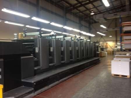 The massive Heidelberg printer, at the KWHF's Australian printers
