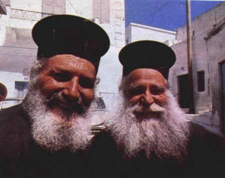 Two Greek Orthodox priests. 1976. - WD Two priests on KytheraSMALL