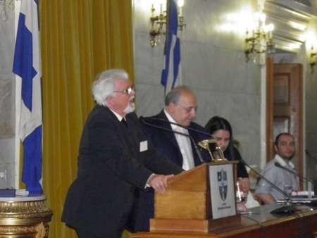 Another significant award for Professor Nikos Petrochilos - Nikos Petrochilos speaks to his award