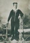Spiros Panaretos in naval cadet uniform circa 1895