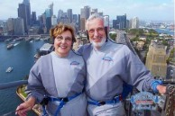 Peter and Deanna Makarthis - top of the (Sydney Harbour) Bridge Climb