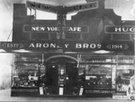 The Aroney Boys outside the New York Cafe, Nowra, circa 1930